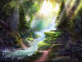 Forest River by JKRoots