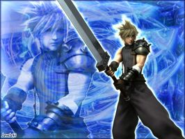 Cloud DISSIDIA Blue by LoveLoki