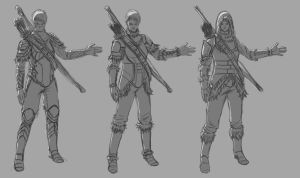 Female hunter armor designs - 01 by Dante-mL