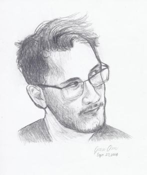 Markiplier Portriat - September, 2016 (13 yrs old) by Gracethelittleartist