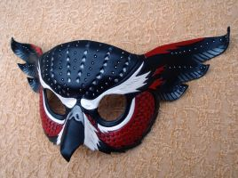 Red Fantasy Owl Mask by merimask