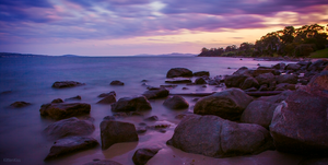 Slow Exposure: Derwent River at Sunset (6) by KittenKiss