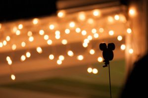 Mickey Mouse Ears Bokeh by LDFranklin