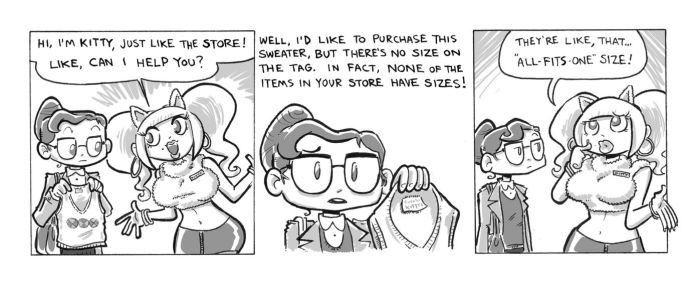 The Librarian's New Sweater, p3 by Mr-DNA