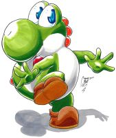 Yoshi Finally Catches His Tail by Connan-Bell