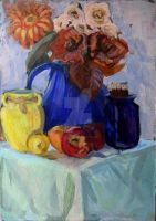Still Life with Yellow Vase by Silvestris9