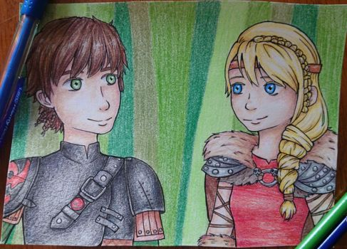 How to Train Your Dragon 2 - Hiccup and Astrid by NekoGiraffe