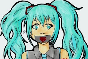 Miku silenced by woostersauce