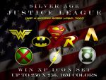 SilverAge Justice League Logos by BadlyDrawnDuck