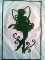 Green Fairy Cross Stitch by Akeelahh