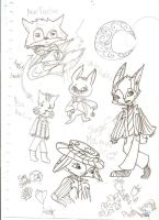 My other concept art ideas :) by PinkDragon159