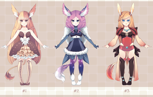 Adoptable Set [CLOSED] by Andreia-Chan
