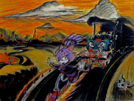 Blaze And The Truck by RPM1000