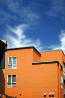 Stucco and Sky by EtherealWings0000