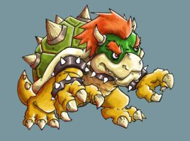 Bowser W.I.P. by LeoCamacho