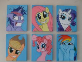 Icons of the Six Fair Maiden Mares Hexaptych by Pwnyville