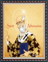 St. ATHANASIUS by Reformed-Artiste