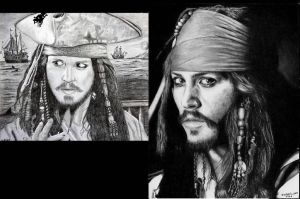 Jack Sparrow - 28 months later by Rick-Kills-Pencils