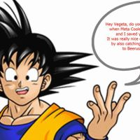 DBZ FUNNYVERSE: Vegeta Burns Goku by SSJGOKU10