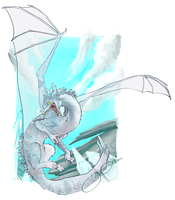 Crystal-Ice Dragon by Shadowtangent