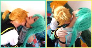 Len Kiss Miku by psychedelicXmoon