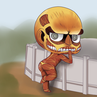 shingeki no kyojin - attack on titan - Chibi Titan by laurieswall