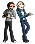 Commission - Edwin and SgtTroll (Fullbody Painted) by TheFlippmeister