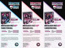 Finished Monster High Product Sheets Classwork by Asher-Bee