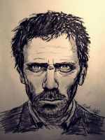 Hugh Laurie   House by aiglemkf
