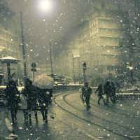 .: snowly night :. by hayal25