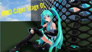 MMD Cages Stage DL by Mitsuki Yashiro by WorstSweetAddiction
