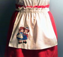 Raggedy Ann and Andy Apron by GothicDorothy