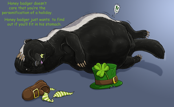 Honeybadger St. Patrick's Day by Greedywoozle
