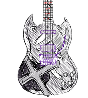 Custom Les Paul Sketch by MutekiElements