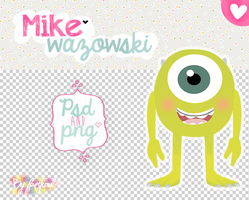 + (PSD/PNG) Mike wazowski - Monsters Inc by freshowl