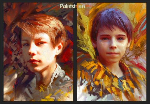 Oil-style portraits by Hangmoon