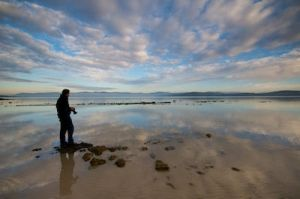 Me at Great Bay, Tasmania by oliau