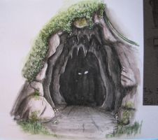 Sombre grotte by typhon-humanoid