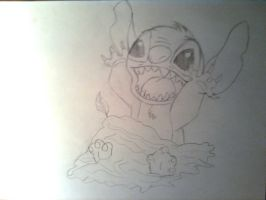 Stitch-Pencil drawing version- by Agi6