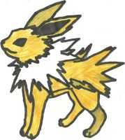 Jolteon Coloured by CoolMan666