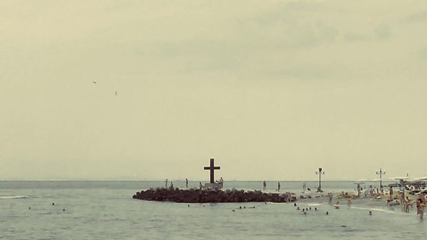 Sea Calms By The Cross by RightAboveUnderLeft