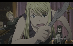 Winry: Don't Startle the Witch by Xcas92X