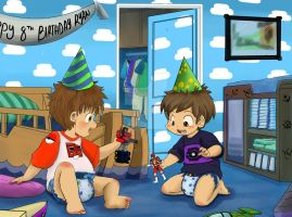 Ryan's Birthday Playtime with Grant by dcrisisbeta