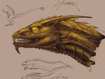 Ghidorah Sketches by Anuwolf