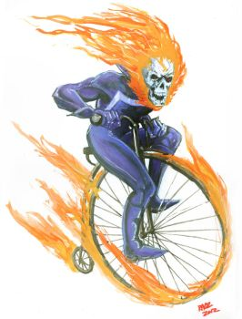 Ghost Rider's Other Bike Is In The Shop by ragzdandelion