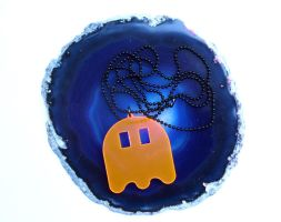 Pacman ghost necklace by milkool