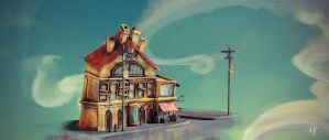 Victorian Building 001 Color Wash by kewel72000