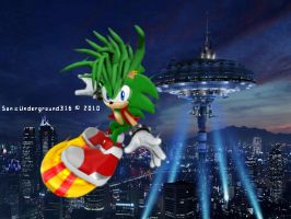 The sky of Robotropolis by SonicUnderground316