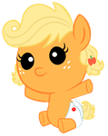 Baby Applejack - Hug by DWeegee