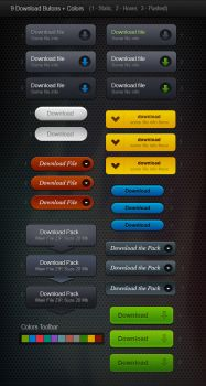 9 Web Download Buttons by mygreed